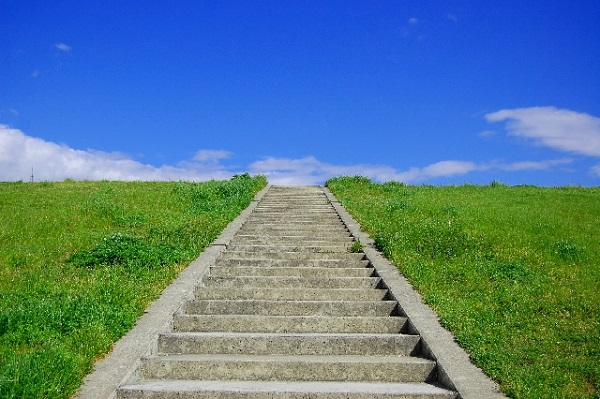 河川敷階段