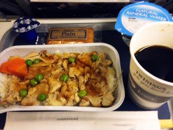 ブリティッシュエアウェイズ機内食