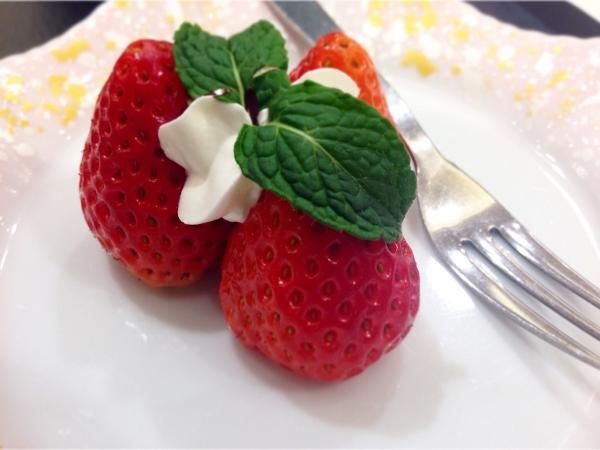 阿蘇プラザホテル夕食いちご