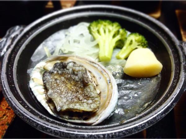 熱川館‐鮑陶板焼き