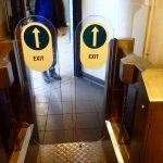イギリス有料トイレ出口