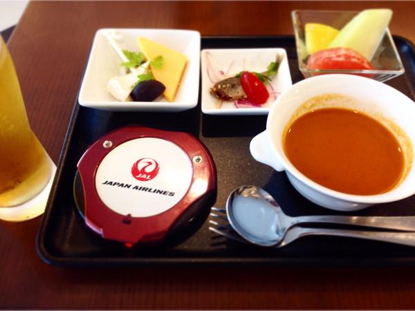 羽田空港国際線JALファーストクラスラウンジ食事