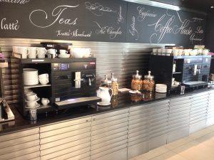 ヒースロー空港ラウンジ‐コーヒー