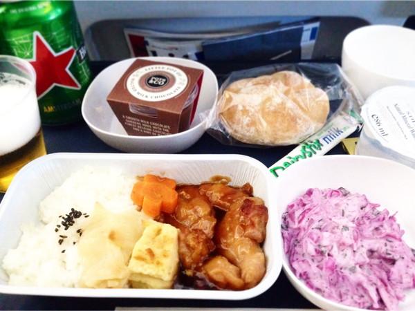 ブリティッシュエアウェイズ機内食‐チキン