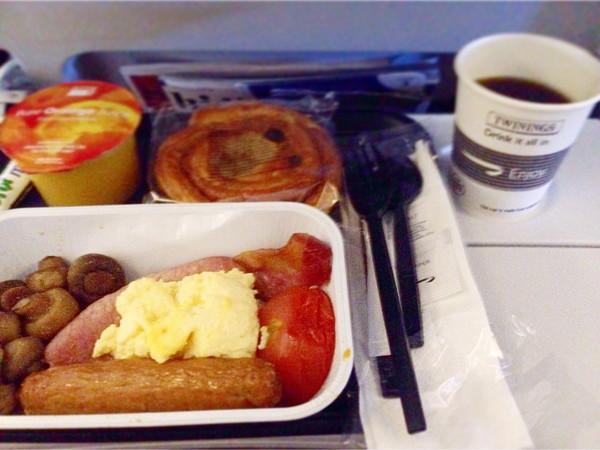 ブリティッシュエアウェイズ‐機内食(朝食)