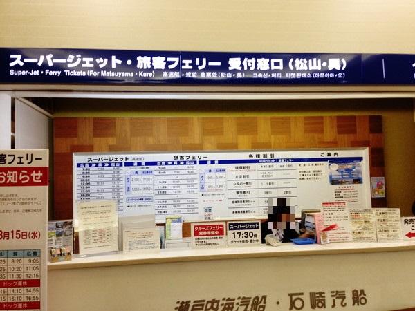広島‐松山‐高速船フェリー