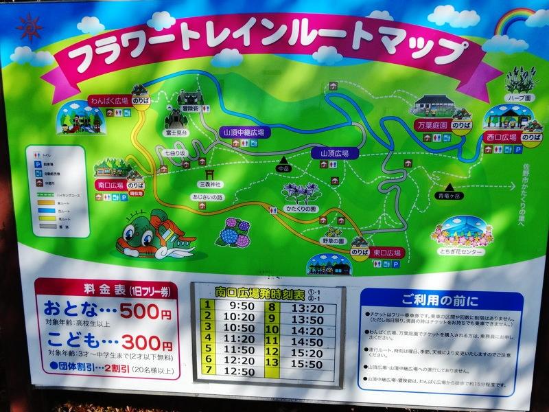 フラワートレインマップ