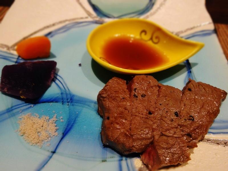 淡路牛のステーキ