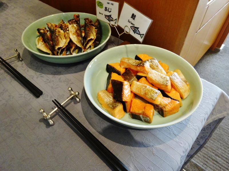 鮭とアジの干物