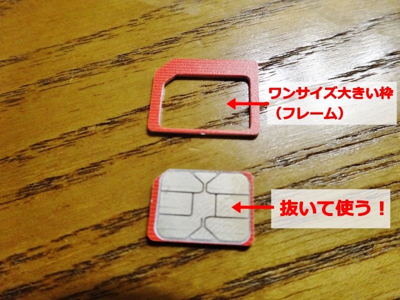 simカードの造り